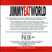 Click here for more info about 'Jimmy Eat World - Pain'