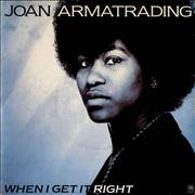 "Joan Armatrading When I Get It Right UK 7"" vinyl"