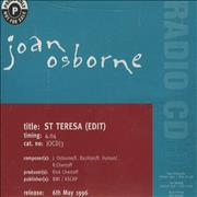 Click here for more info about 'Joan Osborne - St Teresa - Picture Sleeve'