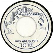 Click here for more info about 'Joe Tex - Boys Will Be Boys'