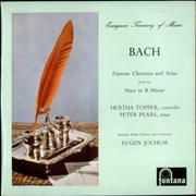 Click here for more info about 'Johann Sebastian Bach - Famous Choruses and Arias from the Mass in B minor'