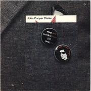 John Cooper Clarke Snap, Crackle & Bop UK vinyl LP