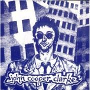"""John Cooper Clarke Suspended Sentence - Blue Wraparound Sleeve UK 7"""" vinyl"""
