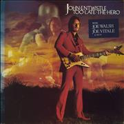 Click here for more info about 'John Entwistle - Too Late The Hero - Hypestickered'