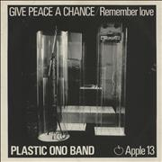 Click here for more info about 'John Lennon - Give Peace A Chance - 3rd - Solid - P/s'