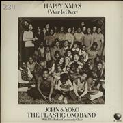 Click here for more info about 'John Lennon - Happy Xmas (War Is Over) - Green - P/S - EX'
