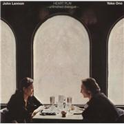 John Lennon Heart Play - Gold Promo Stamped UK vinyl LP