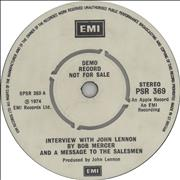 Click here for more info about 'Interview With John Lennon By Bob Mercer'