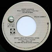 Click here for more info about 'John Lennon - (Just Like) Starting Over'