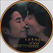John Lennon Milk And Honey - 1st UK picture disc LP