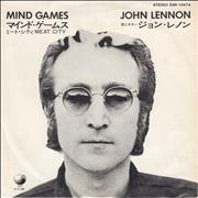 "John Lennon Mind Games - Red Vinyl Japan 7"" vinyl"