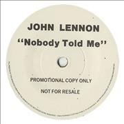 Click here for more info about 'John Lennon - Nobody Told Me - White Label + Picture Sleeve'