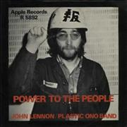 Click here for more info about 'John Lennon - Power To The People - Full Apple - P/S - EX'