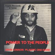Click here for more info about 'John Lennon - Power To The People - Full Apple - P/S - Mint'