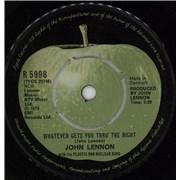 """John Lennon Whatever Gets You Thru' The Night Denmark 7"""" vinyl"""
