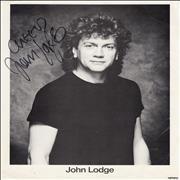 Click here for more info about 'John Lodge - Signed Photograph - Cheers'