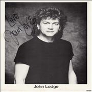 Click here for more info about 'John Lodge - Signed Photograph - Love'