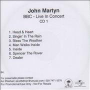 Click here for more info about 'John Martyn - BBC Live In Concert'