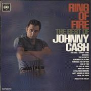 Johnny Cash Ring Of Fire - 1st Stereo UK vinyl LP