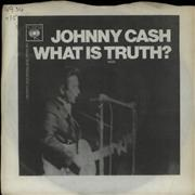 "Johnny Cash What Is Truth? UK 7"" vinyl"