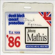 Click here for more info about 'Johnny Mathis - UK Tour '86'