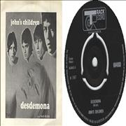 Click here for more info about 'John's Children - Desdemona - Picture Sleeve'