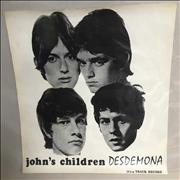 Click here for more info about 'John's Children - Desdemona - Promotional Poster'