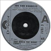 Click here for more info about 'Jon & Vangelis - And When The Night Comes'