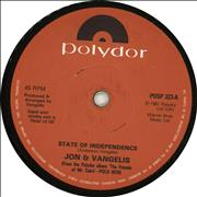 Click here for more info about 'Jon & Vangelis - State Of Independence'