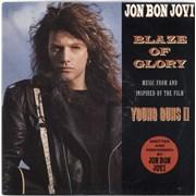 """Jon Bon Jovi Blaze Of Glory UK 7"""" vinyl"""