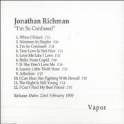 Click here for more info about 'Jonathan Richman & The Modern Lovers - I'm So Confused'