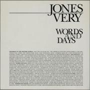 Click here for more info about 'Jones Very - Words And Days'