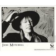 Joni Mitchell Chalk Mark In A Rain Storm USA press pack Promo