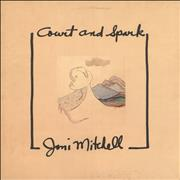 Joni Mitchell Court And Spark - EX UK vinyl LP