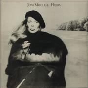 Joni Mitchell Hejira + Art Print - EX UK vinyl LP