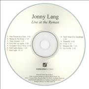 Click here for more info about 'Jonny Lang - Live At The Ryman'