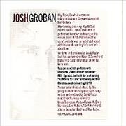 Click here for more info about 'Josh Groban - Album Advance'