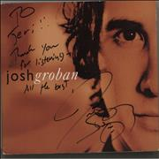Click here for more info about 'Josh Groban - Closer - Autographed'