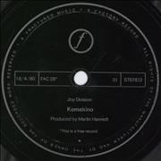 Click here for more info about 'Joy Division - Komakino - Flexi - EX'