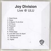 Click here for more info about 'Joy Division - Live @ ULU'