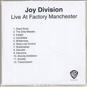 Click here for more info about 'Joy Division - Live At Factory Manchester'