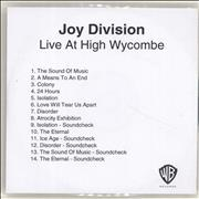 Click here for more info about 'Joy Division - Live At High Wycombe'