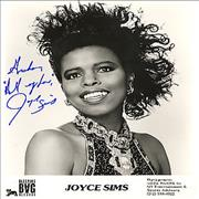 Click here for more info about 'Joyce Sims - Autographed Publicity Photograph'