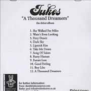 Jukes A Thousand Dreamers UK CD-R acetate Promo