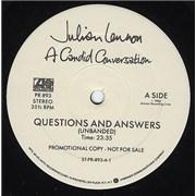 Julian Lennon A Candid Conversation USA vinyl LP Promo