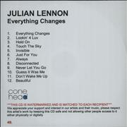Click here for more info about 'Julian Lennon - Everything Changes'