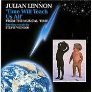 """Julian Lennon Time Will Teach Us All UK 7"""" vinyl"""