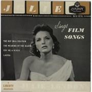 """Julie London Julie Sings Film Songs EP UK 7"""" vinyl"""
