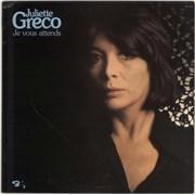 Juliette Greco Je Vous Attends UK vinyl LP
