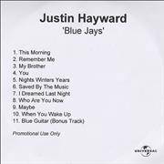 Click here for more info about 'Justin Hayward - Blue Jays'